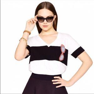 Kate Spade Black & White Tee L